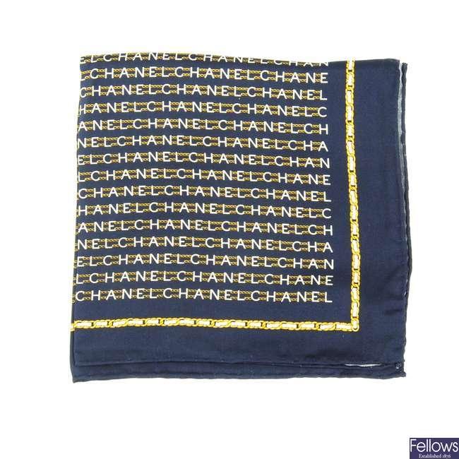 CHANEL - a small silk scarf.