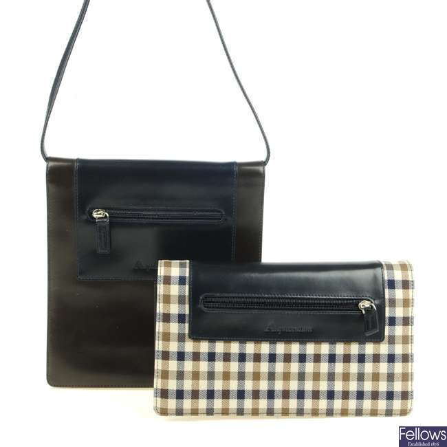 AQUASCUTUM - two handbags.