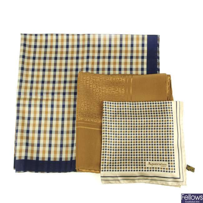 AQUASCUTUM - a selection of scarves.