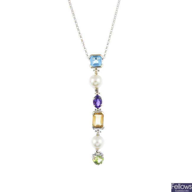A vari-gem necklace.