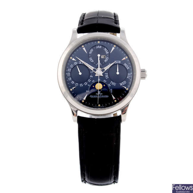 JAEGER-LECOULTRE - a limited edition gentleman's platinum Master Control wrist watch.