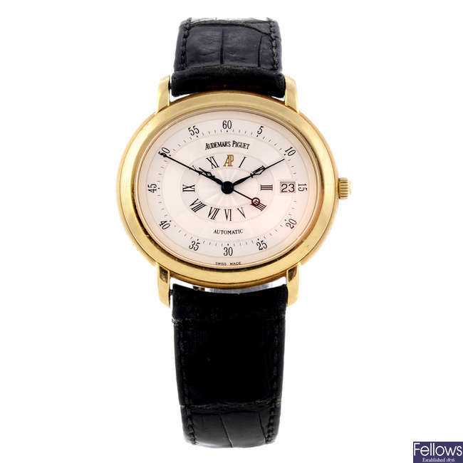 AUDEMARS PIGUET - a gentleman's 18ct yellow gold Millenary wrist watch.
