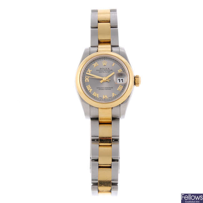 LONGINES - a lady's gold plated Presence bracelet watch.