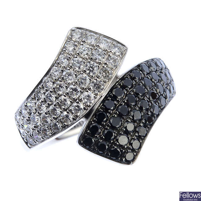 An 18ct gold diamond and gem-set ring.