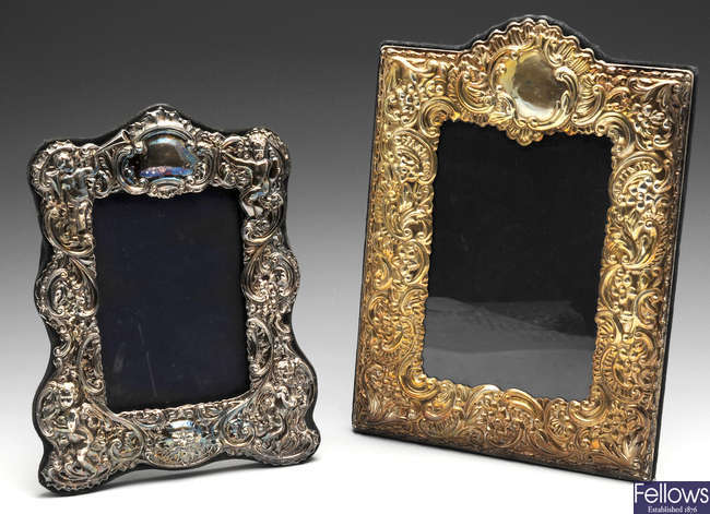 Two modern silver mounted photograph frames.