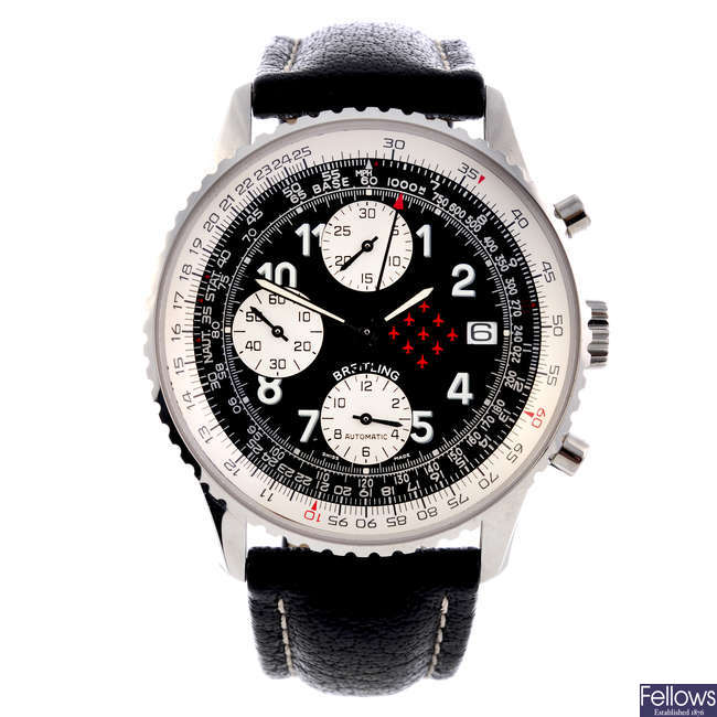 BREITLING - a limited edition gentleman's stainless steel Old Navitimer II 'The Red Arrows' chronograph wrist watch.