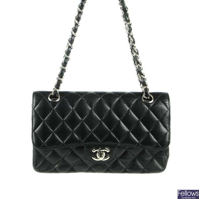 CHANEL - a Small Caviar Classic Double Flap handbag.