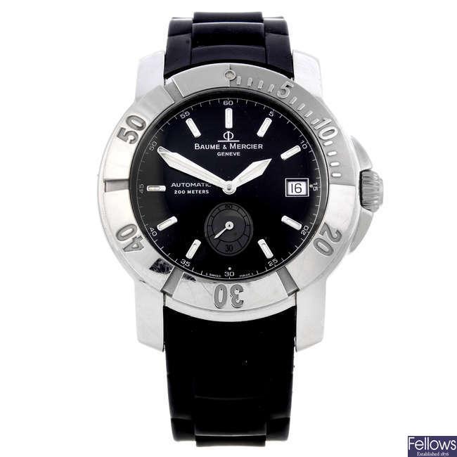 BAUME & MERCIER - a gentleman's stainless steel Capeland Sport wrist watch.