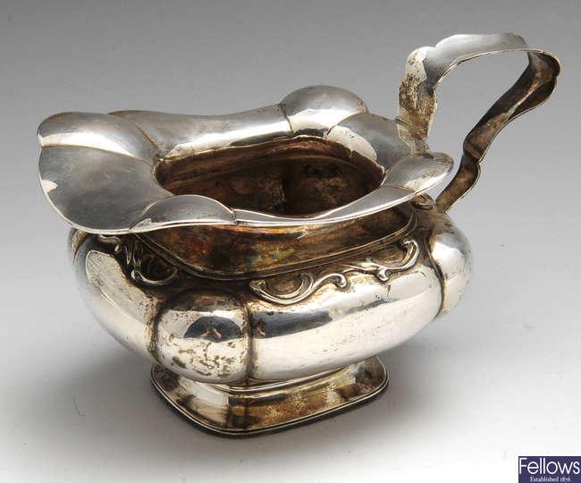 A Dutch silver cream jug.