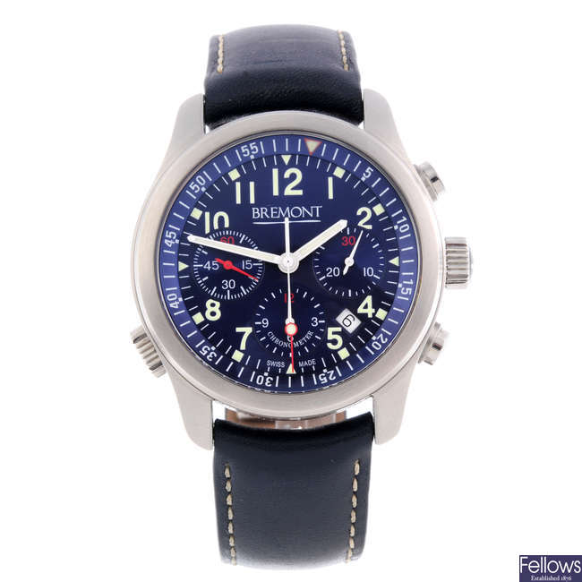 BREMONT - a gentleman's stainless steel ALT1-P chronograph wrist watch.