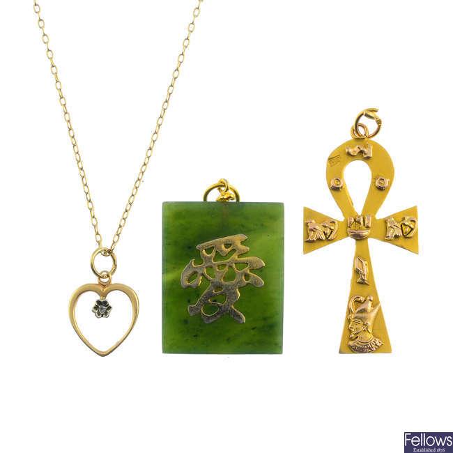 Three pendants.
