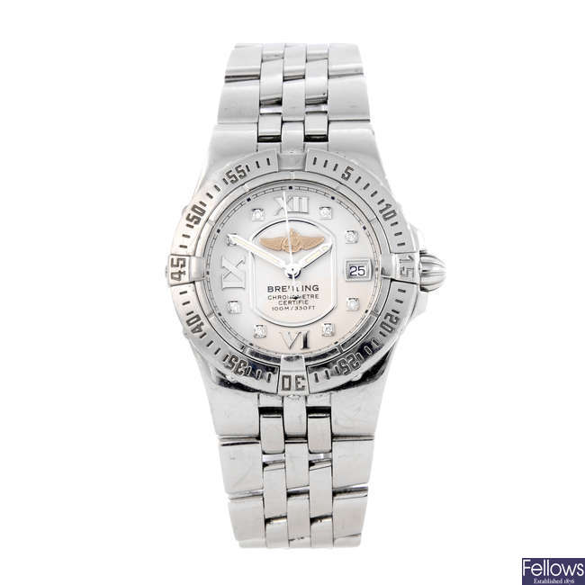 BREITLING - a lady's stainless steel Starliner bracelet watch.