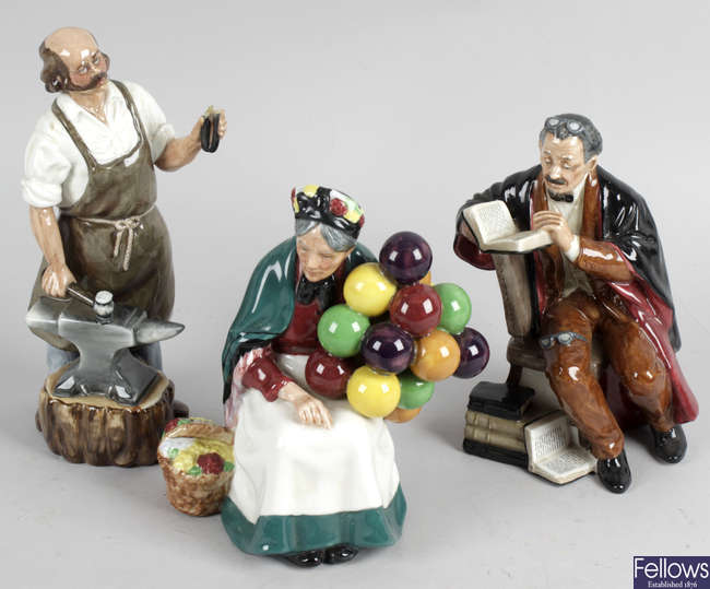 A collection of twelve assorted figurines.
