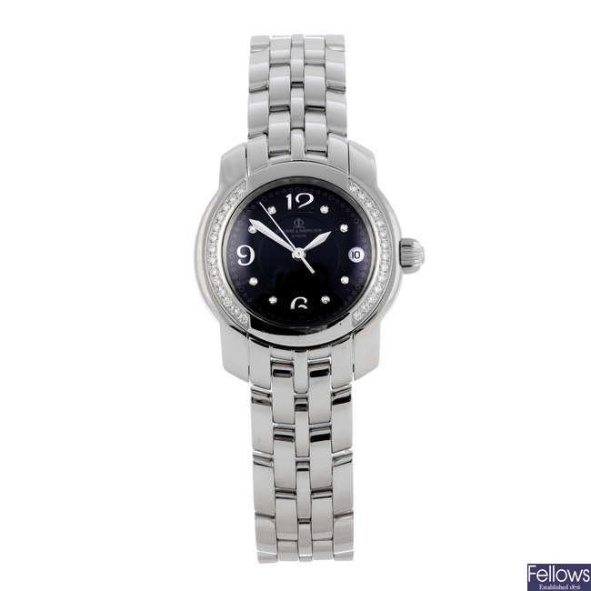 BAUME & MERCIER - a lady's stainless steel Capeland bracelet watch.