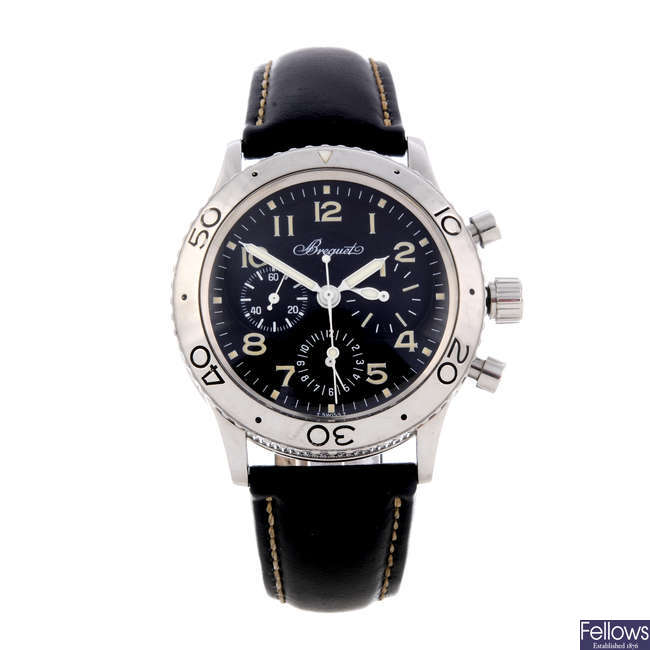 BREGUET - a gentleman's stainless steel Type XX Aeronavale chronograph wrist watch.
