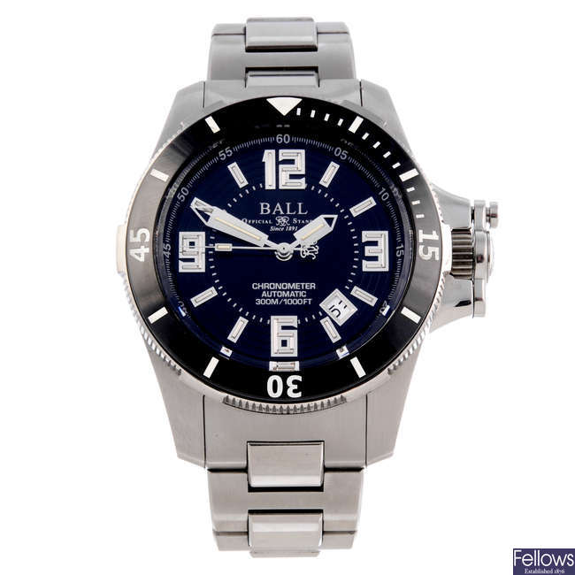 BALL - a gentleman's bi-material Engineer Hydrocarbon Ceramic XV bracelet watch.