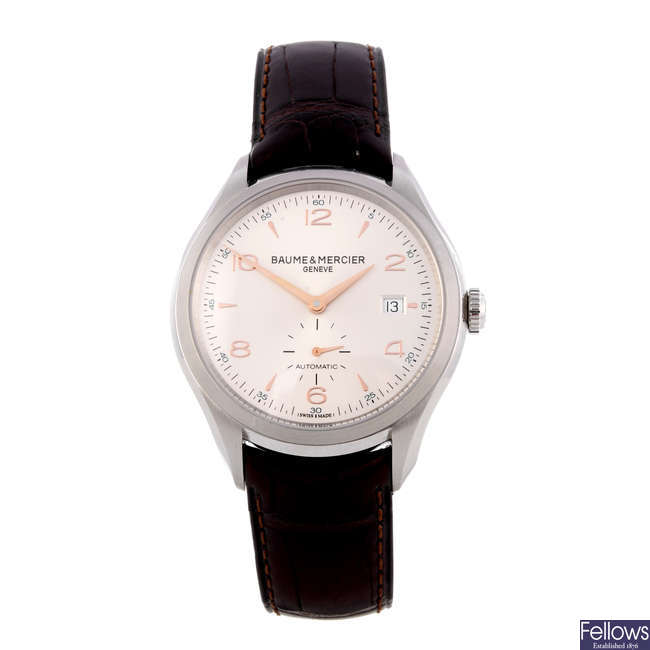 BAUME & MERCIER - a gentleman's stainless steel Clifton wrist watch.