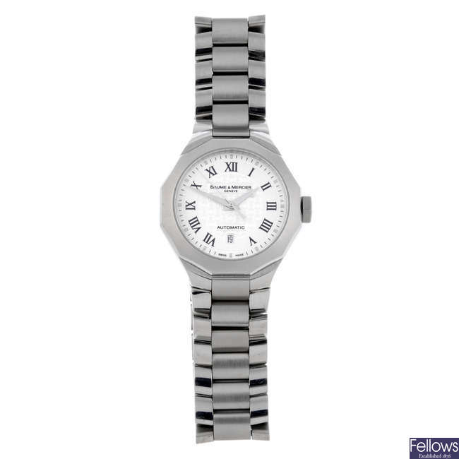 BAUME & MERCIER - a lady's stainless steel Rivera bracelet watch.
