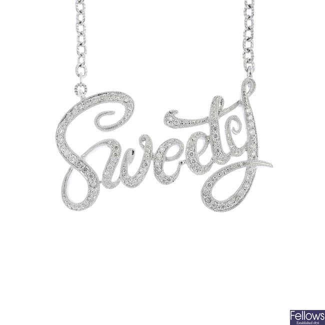 A diamond 'Sweety' necklace.