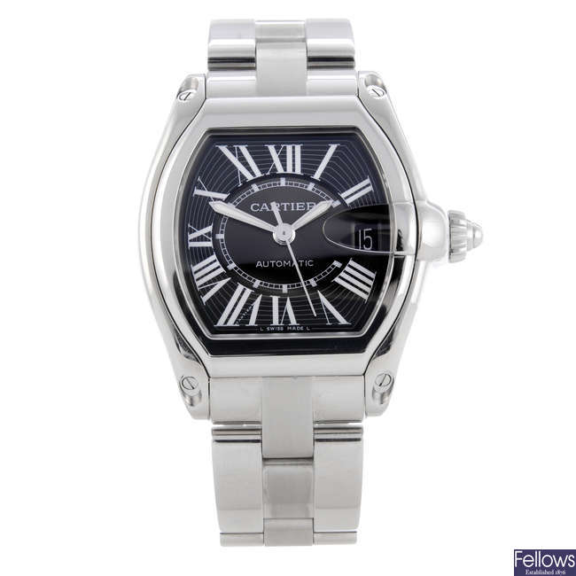 CARTIER - a stainless steel Roadster bracelet watch.