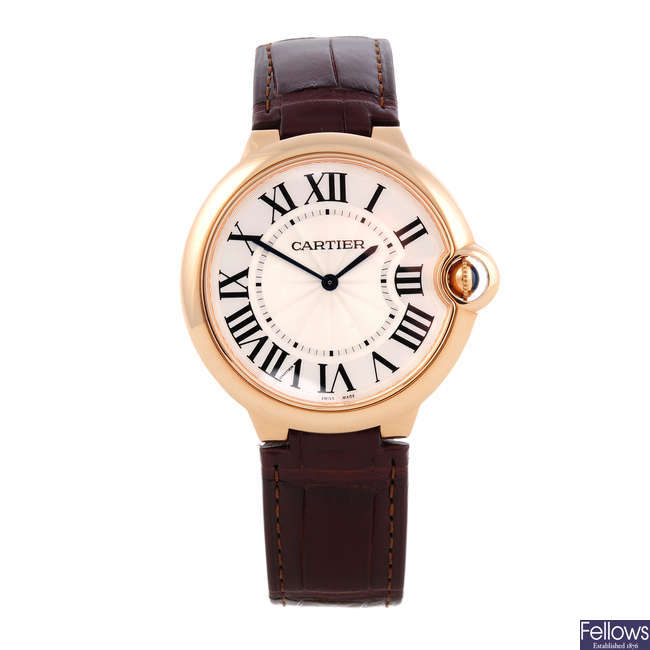 CARTIER - an 18ct rose gold Ballon Bleu 'Ultra Thin' wrist watch.