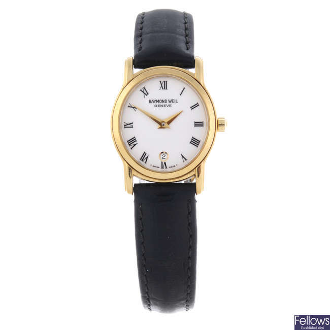 RAYMOND WEIL - a lady's gold plated Tradition wrist watch.