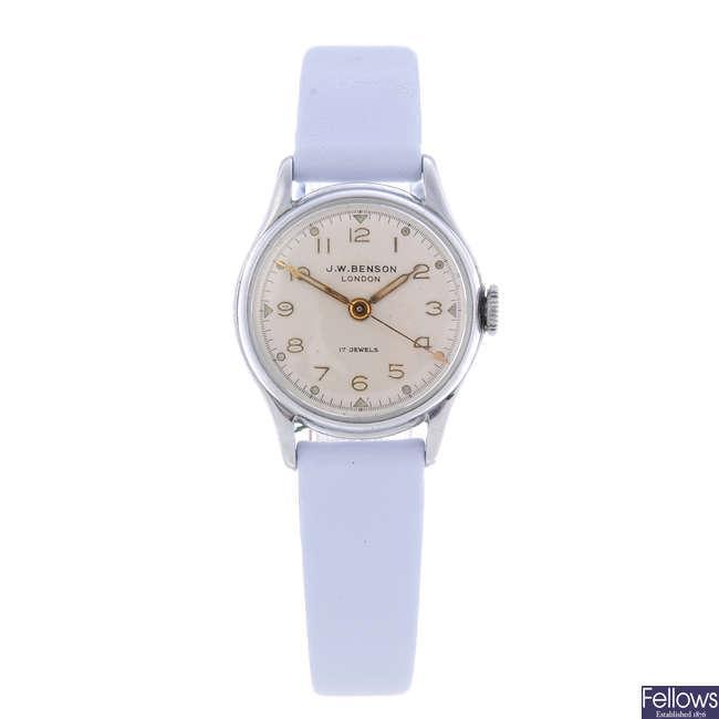 BAUME & MERCIER - a lady's stainless steel wrist watch.