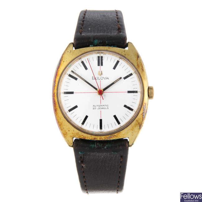 BULOVA - a gentleman's gold plated wrist watch.