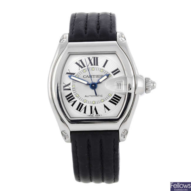 CARTIER - a stainless steel Roadster wrist watch.