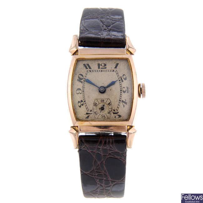 BULOVA - a gentleman's gold plated wrist watch with a La Salle wrist watch.