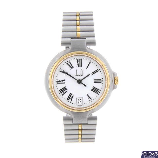 DUNHILL - a gentleman's bi-colour Millenium bracelet watch.