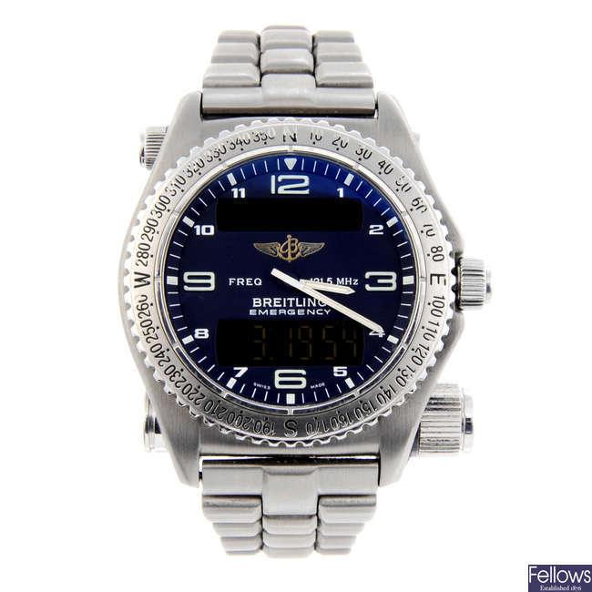 BREITLING - a gentleman's titanium Emergency bracelet watch.