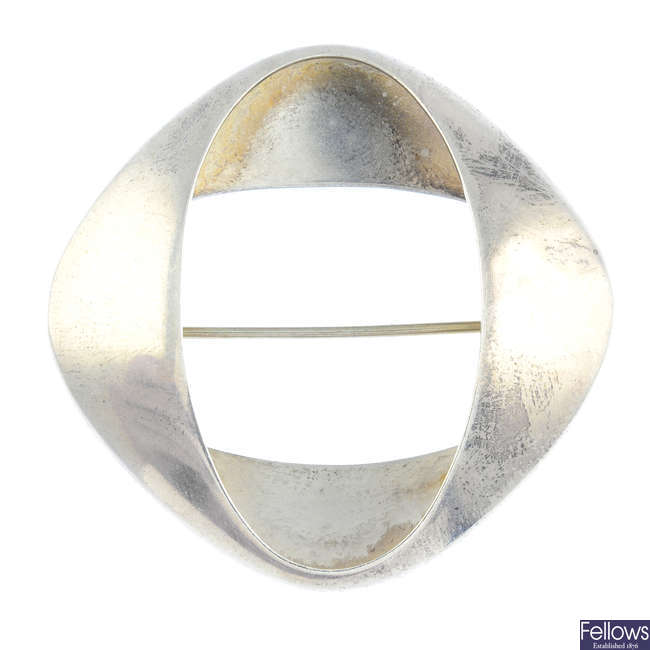 GEORG JENSEN - a silver brooch, no. 368.