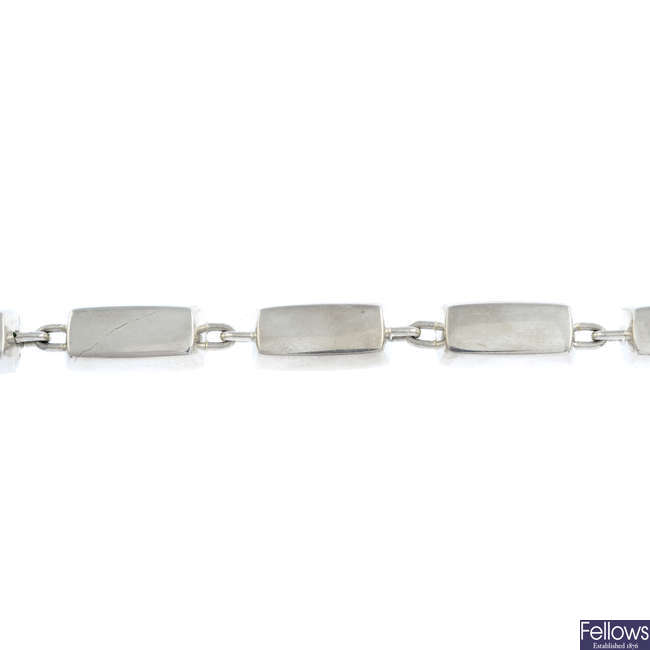 HANS HANSEN - a silver bracelet.