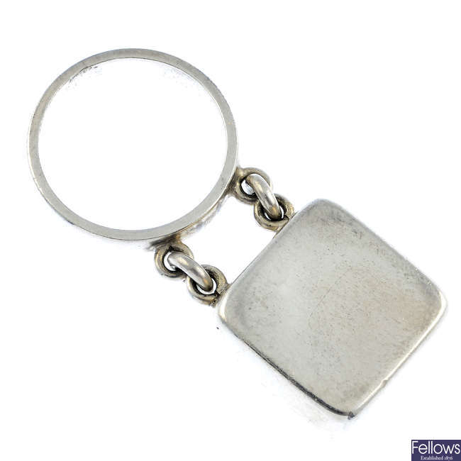 GEORG JENSEN - a silver ring, no. 143.