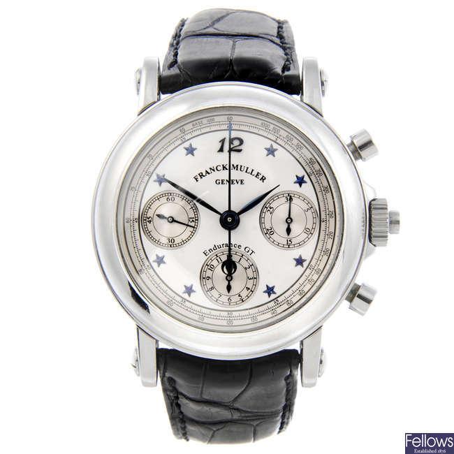 FRANCK MULLER - a gentleman's stainless steel Endurance GT chronograph wrist watch.