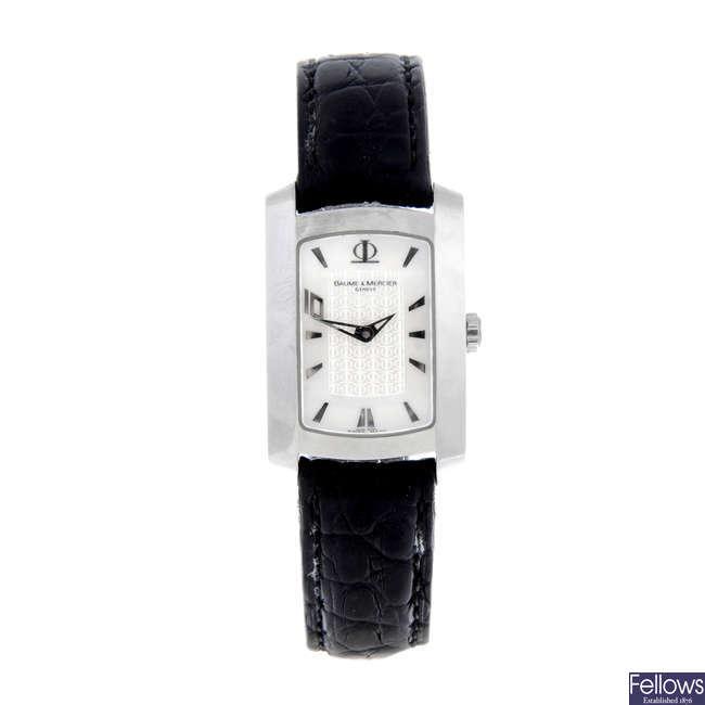 BAUME & MERCIER - a lady's stainless steel Hampton 10 wrist watch.