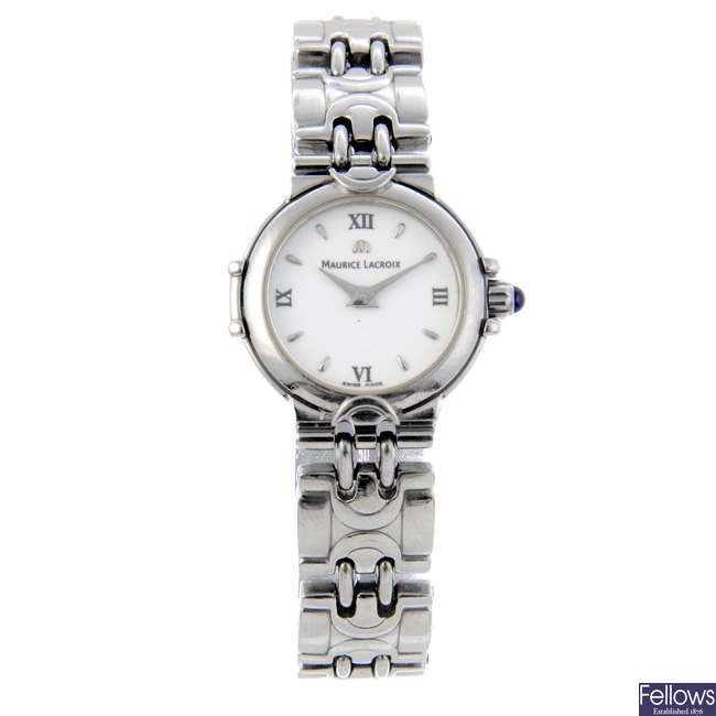 MAURICE LACROIX - a lady's stainless steel bracelet watch and a Maurice Lacroix bracelet watch.