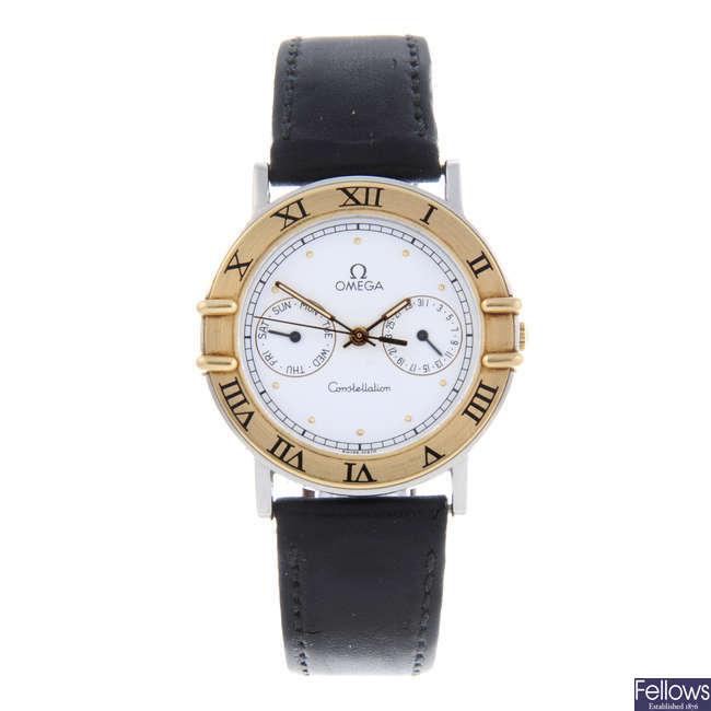 OMEGA - a gentleman's bi-metal Constellation wrist watch.