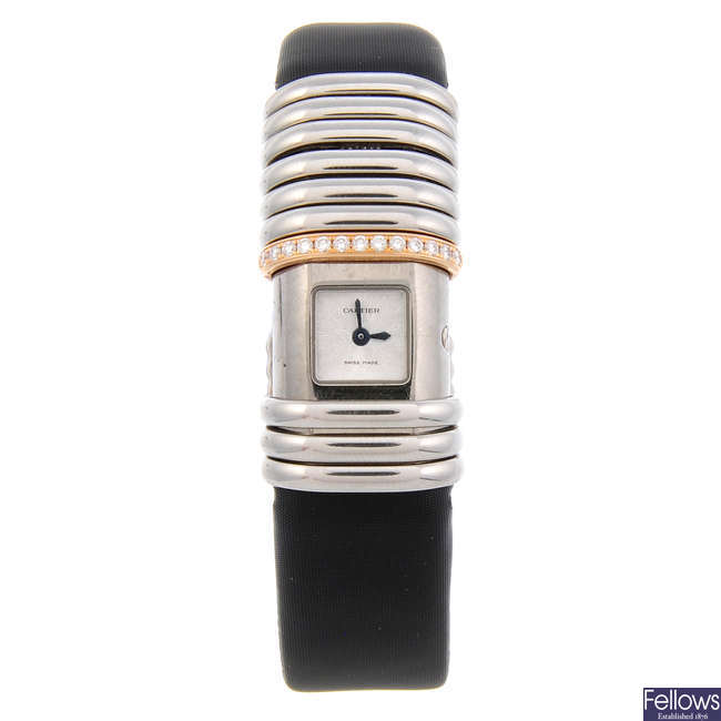 CARTIER - a lady's bi-material Declaration wrist watch.