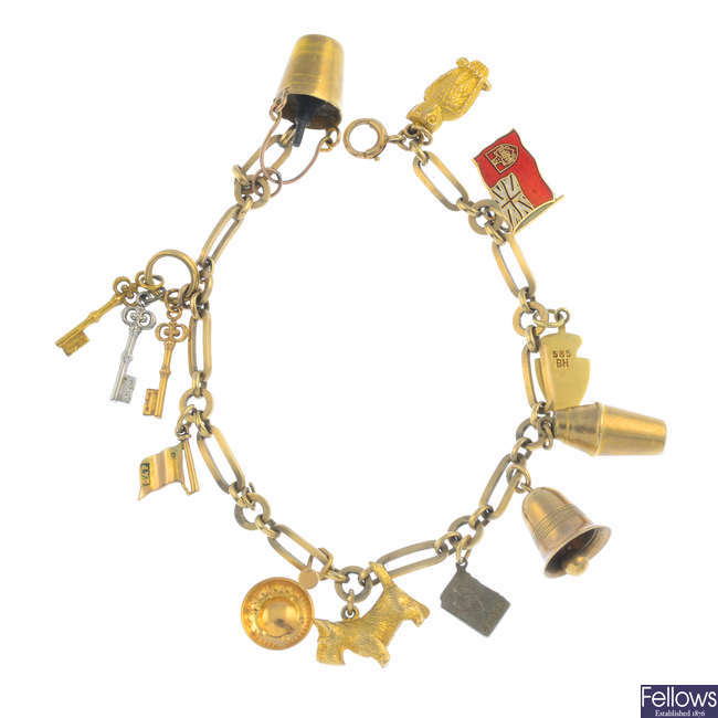 A charm bracelet.