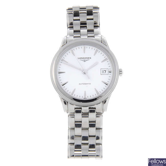 LONGINES - a gentleman's stainless steel Flagship bracelet watch with two Longines watches