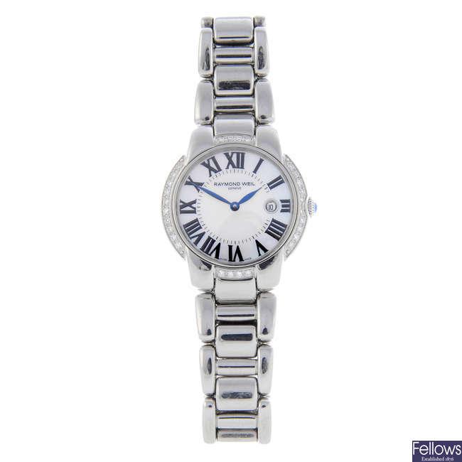 RAYMOND WEIL - a lady's stainless steel Jasmine bracelet watch.