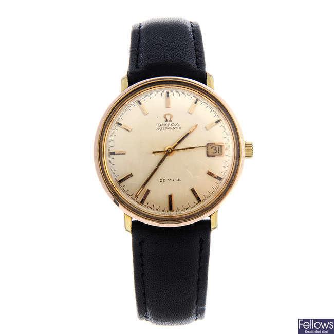 OMEGA - a gentleman's gold plated De Ville wrist watch with a Michael Kors bracelet watch.