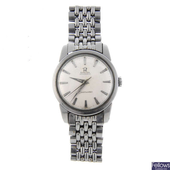 OMEGA - a gentleman's stainless steel Seamaster bracelet watch with an Omega Constellation bracelet watch.