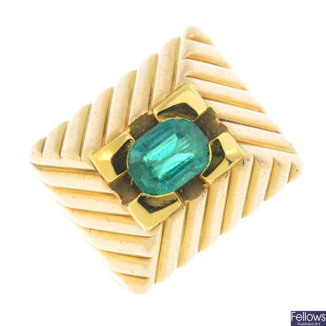 An emerald dress ing.