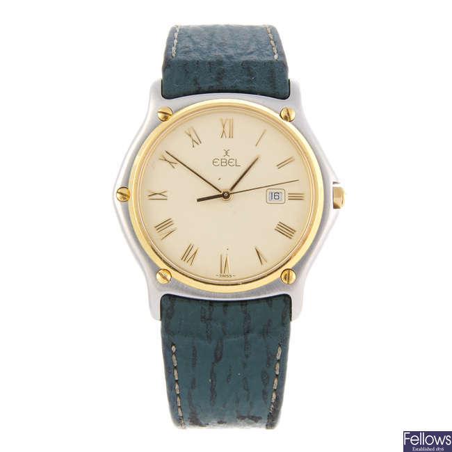 EBEL - a gentleman's bi-metal Classic Wave wrist watch.