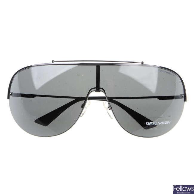 EMPORIO ARMANI - a pair of Shield sunglasses.