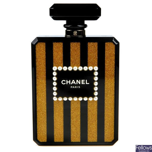 CHANEL - a Perfume Bottle Minaudière handbag