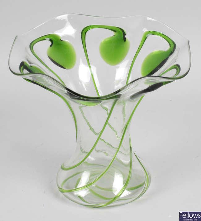 A Stuart and Sons Art Nouveau tadpole vase.